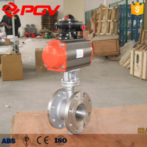 three eccentric hard seal Pneumatic butterfly valve