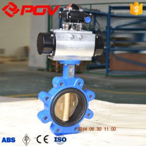 Pneumatic Remote Butterfly Valve, Lug wafer valve with switch