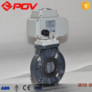UPVC electric wafer butterfly valve